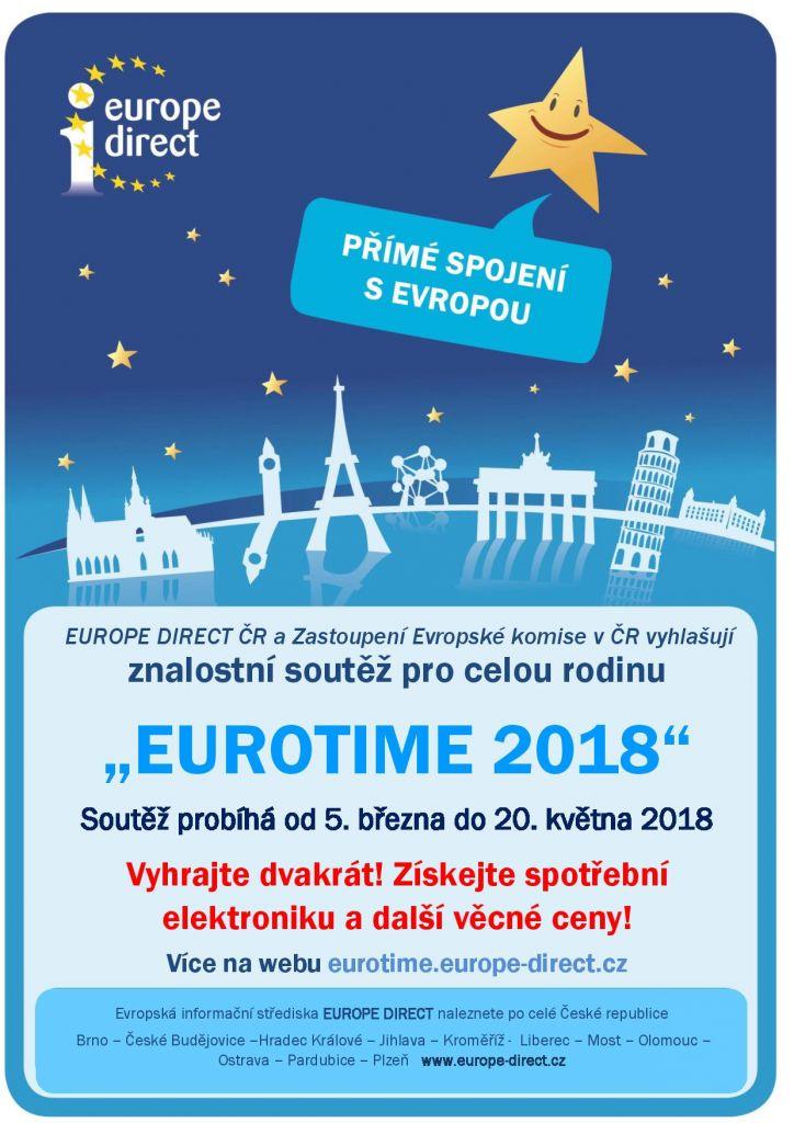 """11. ročník znalostní soutěže """"EUROTIME 2018""""  1"""